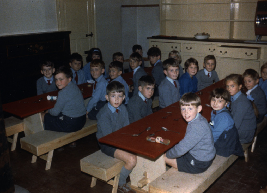 Pupils of the Vineyard School at lunch in what is now 'Hearth'